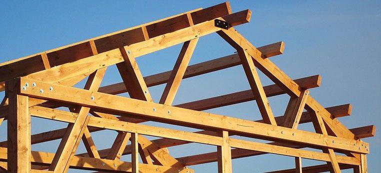 Ossature bois de bâtiment professionnel