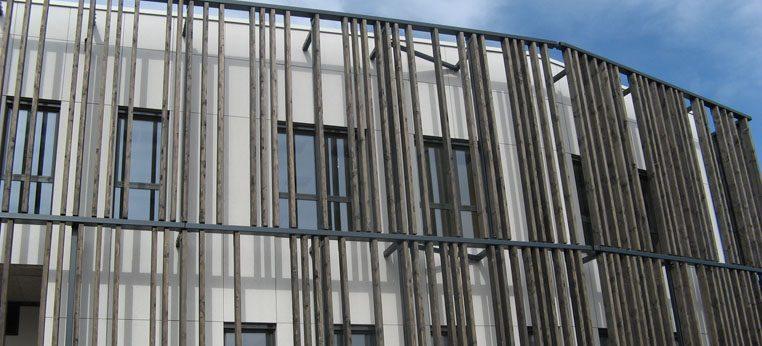 Bardage en bois bâtiment public Montrevel-en-Bresse
