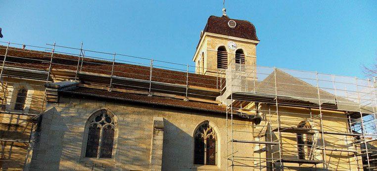 Vue d'ensemble de l'église avant travaux